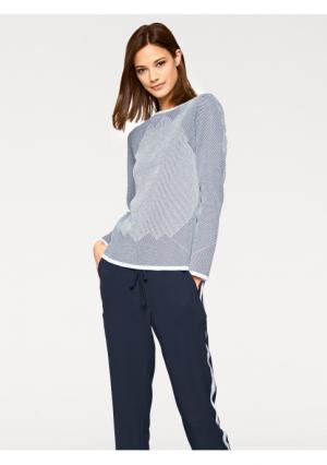 Пуловер Rick Cardona. Цвет: темно-синий/молочно-белый
