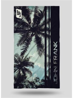 Полотенце пляжное, 80*150 JOHN FRANK. Цвет: черный, голубой