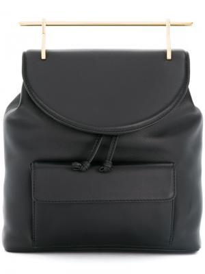 Рюкзак с золотистой ручкой M2malletier. Цвет: чёрный