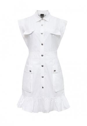 Платье Pinko. Цвет: белый