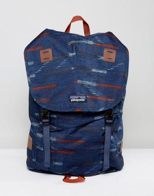 Patagonia Темно-синий рюкзак с принтом Arbor. Цвет: темно-синий