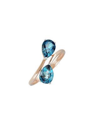 Кольцо с топазом Магия Золота. Цвет: золотистый