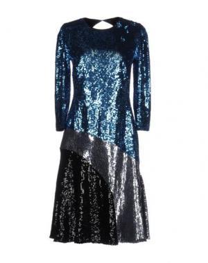 Платье до колена JONATHAN SAUNDERS. Цвет: бирюзовый