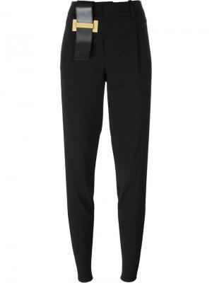 Зауженные брюки Anthony Vaccarello. Цвет: чёрный