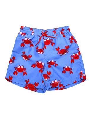 Шорты пляжные Краб Little Me. Цвет: синий, красный