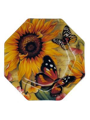 Тарелка 30 см Elff Ceramics. Цвет: желтый, черный, красный