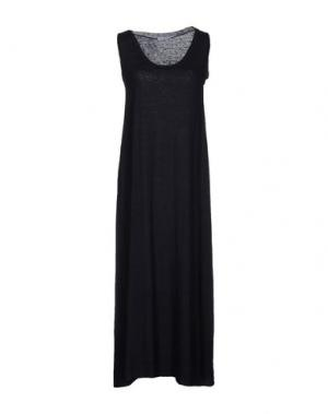 Платье длиной 3/4 BASE. Цвет: темно-синий