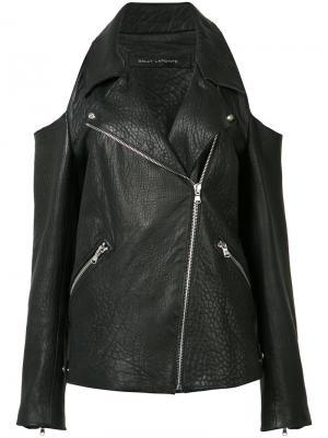 Cold shoulder leather jacket Sally Lapointe. Цвет: чёрный