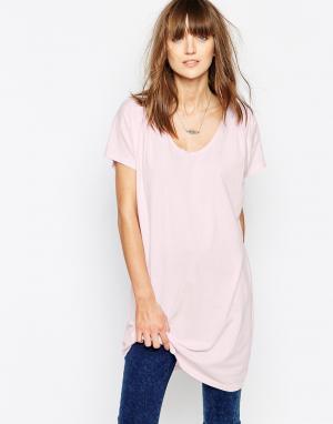 The Furies Удлиненная футболка Poseur. Цвет: конфетно-розовый