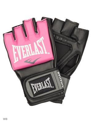 Перчатки тренировочные Everlast. Цвет: розовый