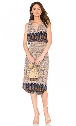 Платье maddie MISA Los Angeles. Цвет: коричневый