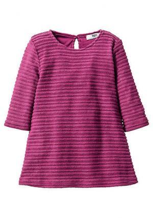 Платье. Цвет: кремовый, фиолетовый