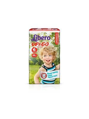 Libero Трусы детские одноразовые Up&Go экстра лардж 13-20кг 44шт упаковка мега. Цвет: зеленый