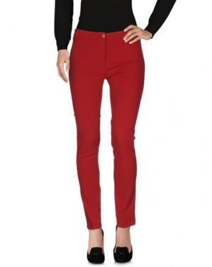 Повседневные брюки POIS. Цвет: красно-коричневый