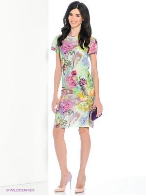 Платье Hammond. Цвет: салатовый, розовый