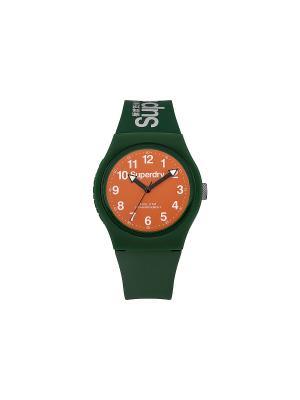 Часы Superdry. Цвет: темно-зеленый