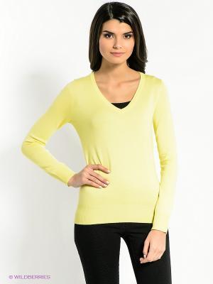 Пуловер CONVER. Цвет: желтый