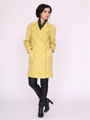 Пальто nasha. Цвет: желтый, салатовый