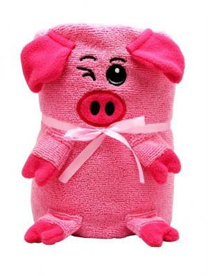 Трансформер Полотенце-Игрушка Розовая Свинка 130x180 см Склад Уникальных Товаров. Цвет: розовый