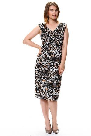 Платье GOLD. Цвет: черный, коричневый