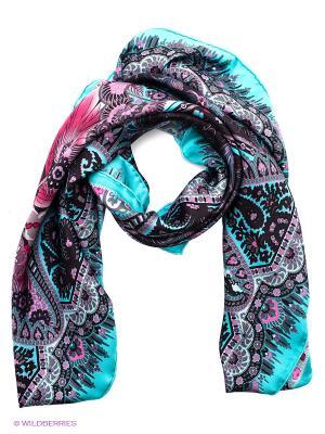 Платок Eleganzza. Цвет: морская волна, фиолетовый, черный