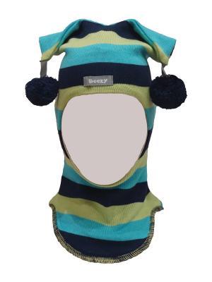 Шапка-шлем арлекин Beezy. Цвет: синий, бирюзовый, салатовый