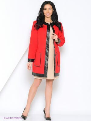 Пальто Kristina. Цвет: красный