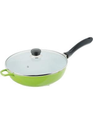 Сковорода с керамическим покрытием BOHMANN. Цвет: зеленый