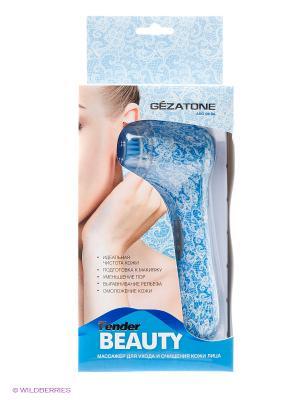 Щетка для чистки и ухода за кожей лица Tender Beauty AMG106SA Gezatone. Цвет: светло-голубой