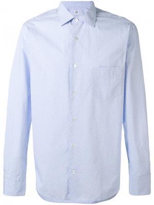 Рубашка с мелким узором Danolis. Цвет: синий