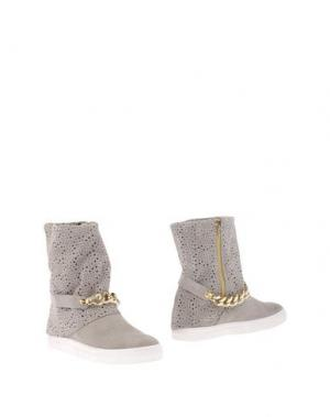 Полусапоги и высокие ботинки GENEVE. Цвет: светло-серый