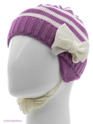 Ушанка ELFRIO. Цвет: фиолетовый, молочный