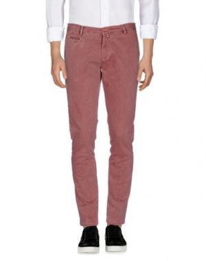 Джинсовые брюки BARBATI. Цвет: пурпурный