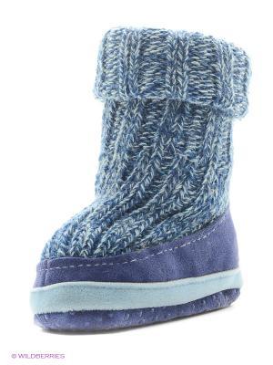 Тапочки- носки противоскользящие BROSS. Цвет: индиго