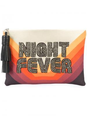 Night fever embroidered clutch Sarah's Bag. Цвет: жёлтый и оранжевый