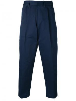 Укороченные брюки Craig The Gigi. Цвет: синий