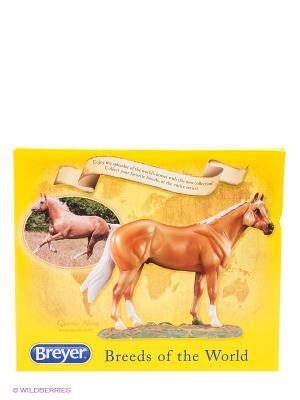 Лошадь Американской четвертьмильной породы (квотерхорс) Breyer. Цвет: светло-коричневый