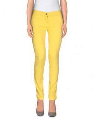 Повседневные брюки YES ZEE by ESSENZA. Цвет: желтый