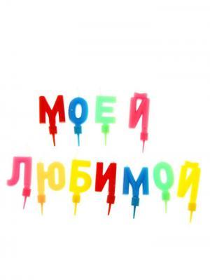 Свечи для торта А М Дизайн. Цвет: черный, желтый, красный, розовый, салатовый, светло-коралловый, синий