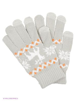 Перчатки для сенсорных экранов TERRITORY. Цвет: светло-серый