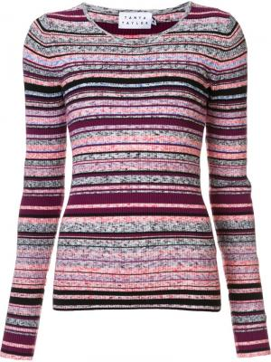 Вязаный свитер Tanya Taylor. Цвет: розовый и фиолетовый
