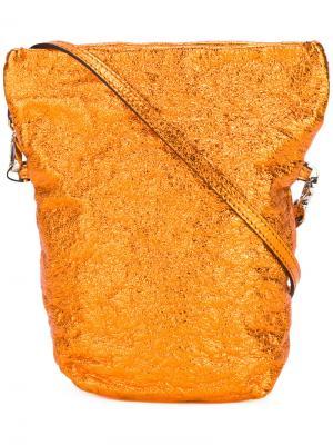 Bucket crossbody bag Zilla. Цвет: жёлтый и оранжевый