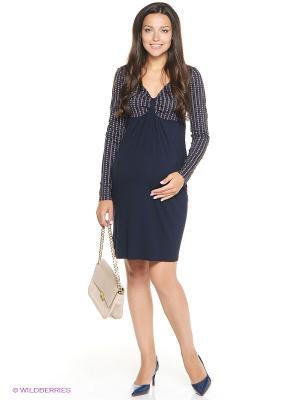 Платье UNIOSTAR. Цвет: темно-синий, сиреневый