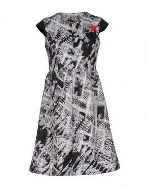 Короткое платье TRE CINQUE SETTE. Цвет: черный