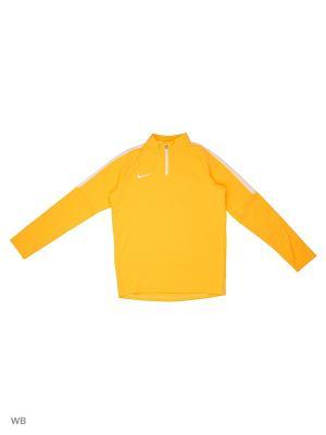 Джемпер Y NK DRY ACDMY DRIL TOP Nike. Цвет: оранжевый, белый