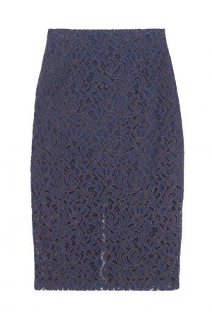Кружевная юбка ARnouveau. Цвет: синий