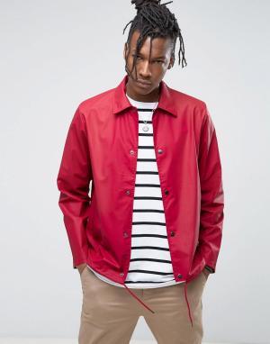 Rains Красная спортивная непромокаемая куртка. Цвет: красный