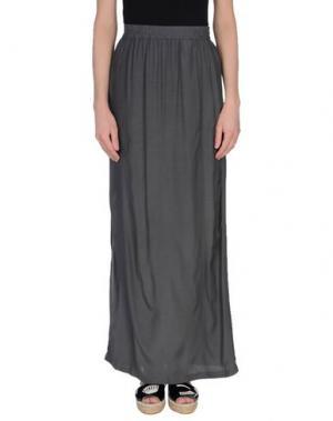 Длинная юбка YAYA. Цвет: серый