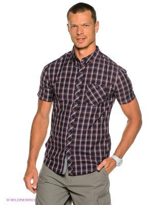 Рубашка Sheldon Ss Woven BILLABONG. Цвет: темно-синий, красный