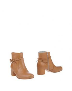Полусапоги и высокие ботинки EMANUELA PASSERI. Цвет: желто-коричневый